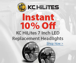 Save 10% instantly on KC HiLites LED Headlights and Light Bars