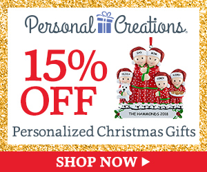 15% off Personalized Christmas Gifts from Personal Creations (300x250)