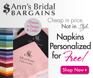 Cheap Personalized Napkins As Low As $19.50 / 100!