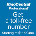 USA RingCentral Professional - Get a Toll Free Number with voicemail starting at $8.29 per month
