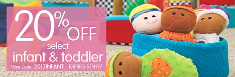 INFANT & TODDLER Sale- Save 20% Off Select Infant & Toddler Products!