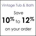 Save 10% plus Free Shipping from VintageTub.com