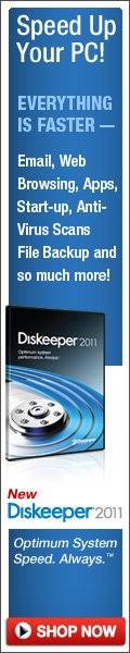 Speed Up Your PC Fast  I  New Diskeeper 2011
