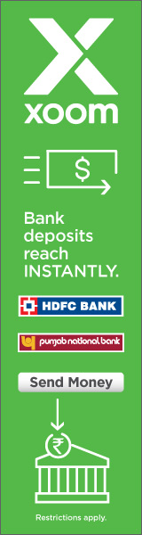Bank deposits to India within 24 hours.