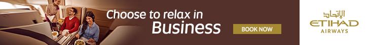 رحلات درجة رجال الأعمال والدرجة الأولى إلى دبي etihad banner
