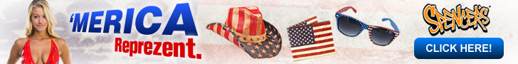 Show your spirit and represent the USA! Shop patriotic tees, tops, hats, & more at Spencer Gifts!