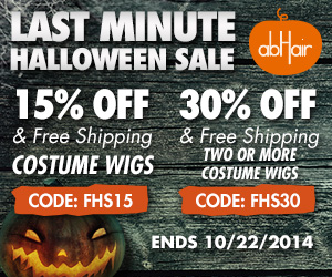 Last minute Halloween sale. Costume wigs up to 30% off +FS