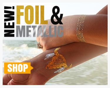 Foil and Metallic Temporary Tattoos at TattooSales.com