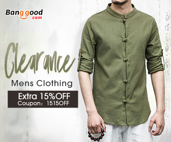 15% OFF Coupon for Mens Clothing Clearance