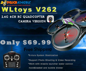 WLtoys V262 Cyclone 2.4GHz 4-Channel RC Quadcopter Camera Version, Only$69.99.