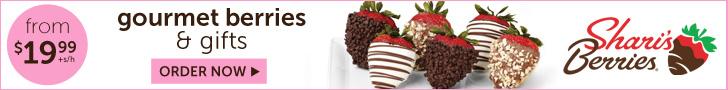 Shari's Berries. Gourmet dipped berries & gifts from $19.99_2/7
