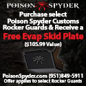Buy  Poison Spyder Jeep Rocker Guards and get a FREE Evap Skid Plate ($105.99 value)