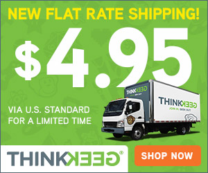 ThinkGeek Flat Rate Shipping Updates! We have updated our Flat Rate Shipping from $7.95 to $4.95.