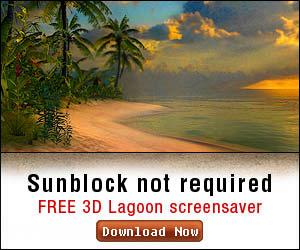 Free 3D Lagoon Screensaver from Screensavers.com!
