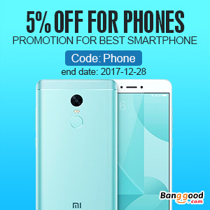 Extra 5% OFF For Smart Phone Promotion