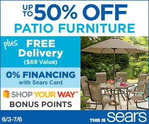 50% off Patio Furniture sale!