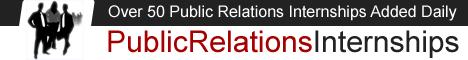 Public Relations Internship - 50+ Added Daily