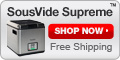 Shop SousVide Supreme - Free shipping!