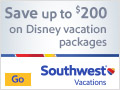 Save up to $200 on Vacations to Walt Disney World Resort & Disneyland Resort
