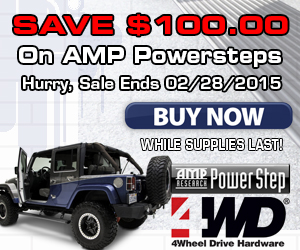 Buy an AMP Power Running Board and save $100.00