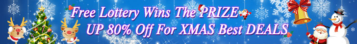 Free lottery wins the prize, UP 80% off for XMAS best deals - Merry Xmas!