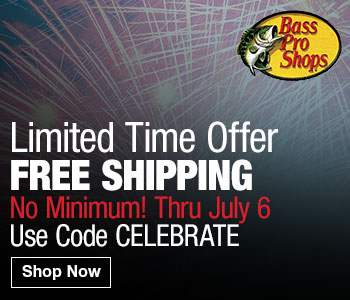 Bass Pro Shops - FREE Shipping No Minimum with code CELEBRATE