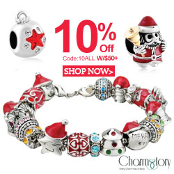 10% off on any order w/$50+ at CharmsStory.com