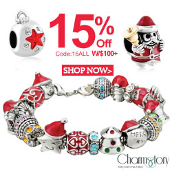 15% off on any order w/$100+ at CharmsStory.com