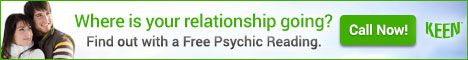 Where is your relationship going? Click for a FREE Psychic Reading from Keen!
