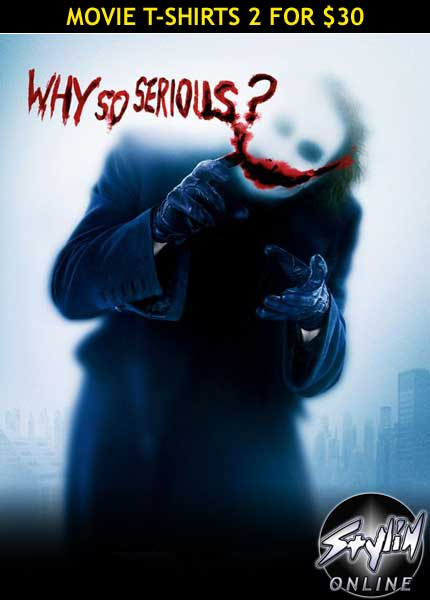 Dark Knight - Joker 'why so serious'