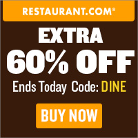 Restaurant.com Weekly Promo Offer 200 x 200