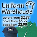 Shop Uniform Warehouse for lowest priced aprons!