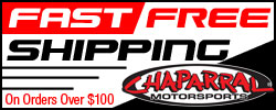 Chaparral Motorsports Free Shipping
