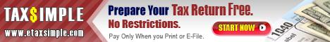 Free Online Tax preparation Software / E-File