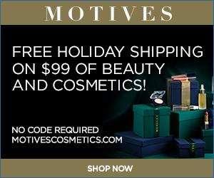 Motives Cosmetics - Free Holiday Shipping on $99.