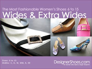 Women's shoes in wide and extra wide sizes