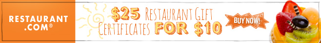 Restaurant.com Weekly Promo Offer 658X88