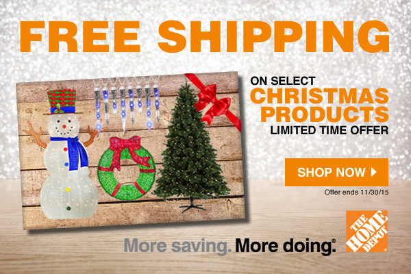Enjoy Free Shipping on Christmas Items at Home Depot! Limited time offer. Shop now!