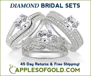 ApplesofGold.com - Diamond Bridal Sets