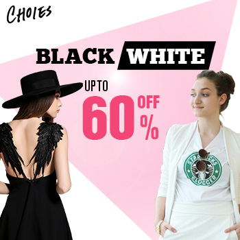 Up To 60% Off For Black And White Collection In Choies,Shop Now