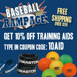 Save 10% on baseball training aids