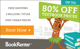 Save 80% and get Free Shipping Rent Now!