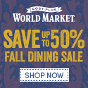 Save up to 50% on all Dining Furniture & Decor, including chairs, tables, flatware, dinnerware, and