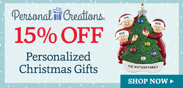 15% off Personalized Christmas Gifts & Decor from Personal Creations (620 x 298)