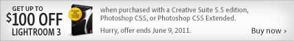Adobe Save up to $100 on Lightroom 3