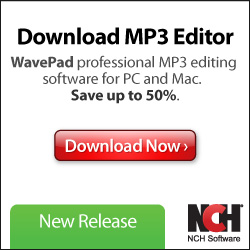 Image for WavePad Audio Editor - Clean Red - Square Pop-Up