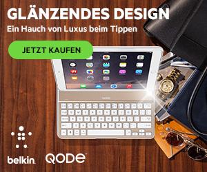 QODE Thin Type Tastaturh�lle f�r das iPad Air - Belkin F5L155deWHT F5L155deWHT