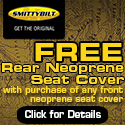 Free Rear Neoprene Jeep Seat Cover by Smittybilt