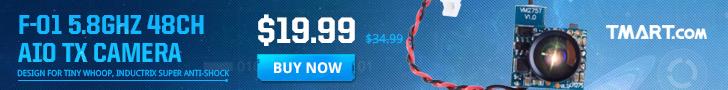 RC Sale - $19.99 for Boldclash F-01 5.8GHz 48CH AIO TX Camera