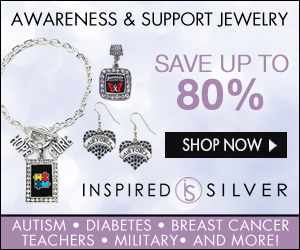Support your favorite causes with Awareness Jewelry from Inspired Silver! Save up to 80% - Shop now!